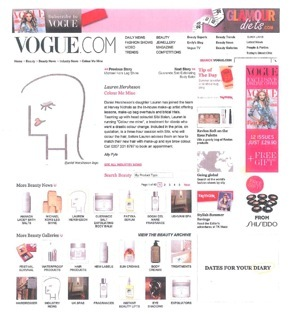 Vogue.co.uk, Colour Me Mine, Lauren Hersheson, Sibi Bolan, Daniel Hersheson, Harvey Nichols, Knightsbridge, London, Makeup Lessons